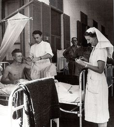 QA nurse in British Military Hospital, Singapore, 1945.