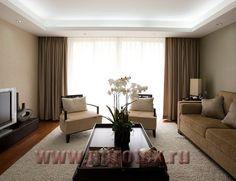 прямые шторы из блэкаута в гостиную