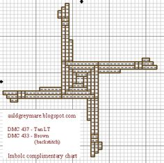 The Auld Grey Mare: Brigid's Cross - a Cross Stitch Freebie for Imbolc
