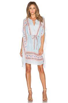 BCBGMAXAZRIA Alexi Dress in Pale Blue Combo | REVOLVE
