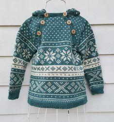 Snøhetta anorak and sweater von SiSiVeAS auf Etsy Knitting For Kids, Free Knitting, Baby Knitting, Crochet Baby, Knit Crochet, Tejido Fair Isle, Wooly Bully, Norwegian Knitting, Fair Isle Knitting