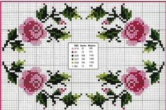 Handicrafts: Roses for embroidery cross stitch / Cross stitch roses Funny Cross Stitch Patterns, Cross Stitch Borders, Cross Stitch Rose, Modern Cross Stitch, Cross Stitch Flowers, Cross Stitch Charts, Cross Stitch Designs, Cross Stitching, Cross Stitch Embroidery