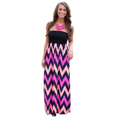 Only $14.99 Women,Summer,Striped Print,Colorful,Elegant,Party Long Dress