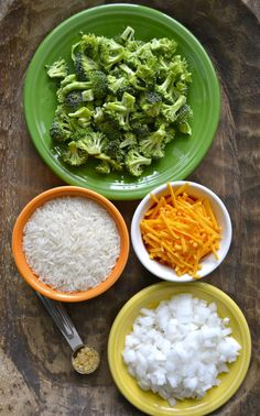 Creamy Broccoli Cheddar Rice, a few simple ingredients make the perfect comforting side dish! Rice Side Dishes, Healthy Side Dishes, Veggie Dishes, Food Dishes, Healthy Dinners, Veggie Plate, Dishes Recipes, Healthy Sides, Healthy Foods
