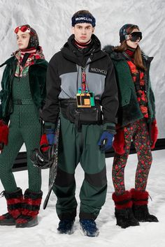 The complete Moncler 3 Grenoble Fall 2018 Ready-to-Wear fashion show now on Vogue Runway. Ski Fashion, Fashion News, Runway Fashion, Winter Fashion, Fashion Looks, Womens Fashion, Sporty Fashion, Sporty Style, Fashion Show Collection