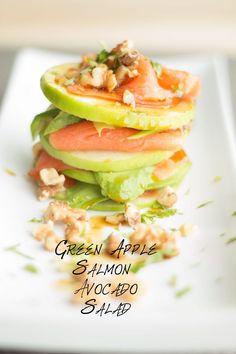 An easy and quick to make Green Apple Salmon Avocado Salad recipe full of nutrition. A gorgeous looking true symphony of flavors and textures.
