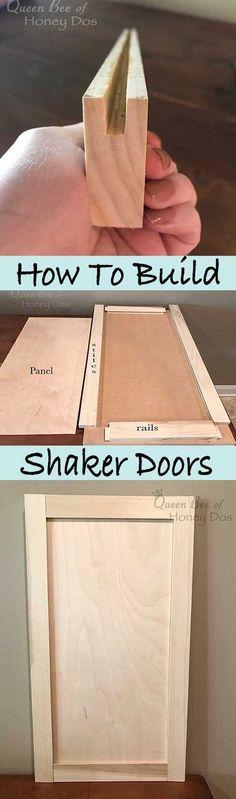 How to Build Shaker Doors #woodworkingprojects