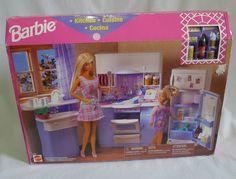 Barbie Kitchen With Accessories Boxed 1998 Mattel 67347 Sink Fridge Oven | eBay