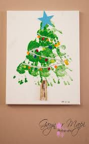christmas handprint canvas - Google Search