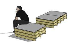 Een houten pallet interieur huren voor uw beurs of bedrijfspresentatie