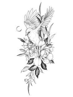 Mini Tattoos, Flower Tattoos, Tattoo Sketches, Tattoo Drawings, Dinosaur Tattoos, Elegant Tattoos, Tattoo Portfolio, Small Girl Tattoos, Tattoo Feminina