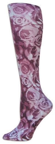 Burgundy Roses Trouser Socks from foot traffic.com