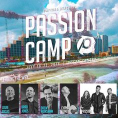 We are excited to announce that @drewworsham will be joining Louie Giglio @PassionMusic and @Christomlin for @Passion_Camp this summer in Daytona Beach! This week is stacked and we don't want your student group to miss out! Also check out three new prici