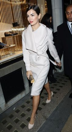 Camilla Belle + the perfect white wrap coat