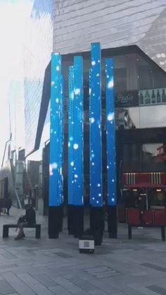 Digital Light, Light Installation, Leicester, Skyscraper, Snow, Sculpture, Twitter, Christmas, Art