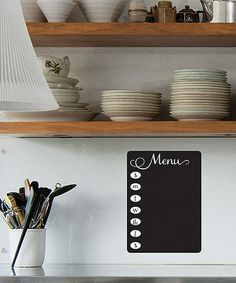 Take a look at this Chalkboard Fancy Menu Wall Decal by Wallquotes.com by Belvedere Designs on #zulily today!