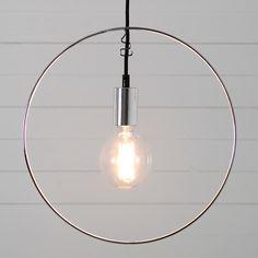 Rundhult fönsterlampa cirkel 38cm krom
