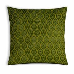 Jaipur Print Green South Cotton Pillow Cover