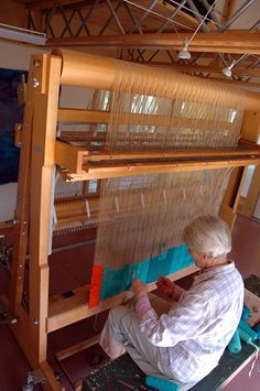 Silvia Heyden at her loom--I've been enjoying the DVD about her life and process.