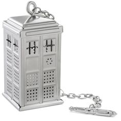 After a long day, spend a few minutes healing your synapses with the Doctor Who TARDIS Tea Infuser and your own special brew of free radicals and tannins. One mug, a little hot water, some loose leaf tea, and one short steep later, you'll be thinking clearly again and ready for traveling the universe.