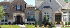 Top 50 Best Brick And Stone Exterior Ideas - Cladding Designs Brick Walkway, Flagstone Patio, Brick Patios, Walkway Ideas, Patio Ideas, Concrete Edging, Curved Patio, Gravel Walkway, Gravel Landscaping