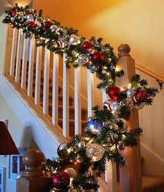 """stockings were hung."""" Part 1 Banister Garland. A new look for my Christmas banister!Hung Hung may refer to: People with the given name Hung include: Noel Christmas, All Things Christmas, Christmas Wreaths, Christmas Crafts, Simple Christmas, Elegant Christmas, Fall Crafts, Christmas Ornament, Banister Garland"""