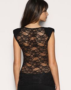 Lace-back Top, I need a new one of these when I lose some more weight. Mine was hijacked :/