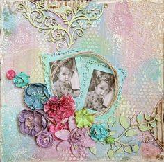 Colorful Mixed Media Layout by Lisa Nazario-Gregory | Lindy's Stamp Gang