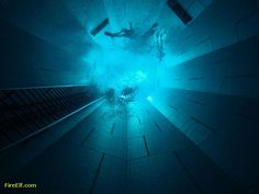 The Deepest Indoor Swimming Pool In The World - The Nemo 33 Diving Pool ◬