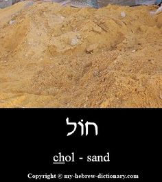 """How to say """"Sand"""" in Hebrew"""