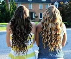 I should get a wand ... Apparently that's how you get curls like these...