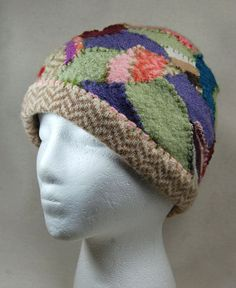 how to upcycle wool sweaters | Upcycled Wool Felted Patchwork Hat Sweater Hat by wildlywhimsical, $20 ...