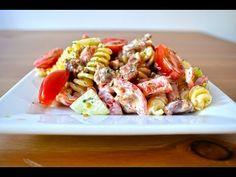 Egyszerű tésztasaláta recept - YouTube Pasta Salad, Ethnic Recipes, Youtube, Food, Crab Pasta Salad, Eten, Meals, Macaroni Salad, Diet