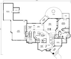 Millhouse Manor Luxury Home First Floor from houseplansandmore.com