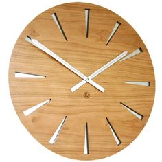 Wooden charm - Cherry Mirror Clock