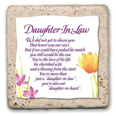 Daughter In Law Tile Birthday Gifts