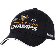 premium selection 54ac4 8afbd Men s Pittsburgh Penguins Reebok Black 2017 Stanley Cup Champions Structured  Adjustable Hat