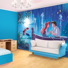 Ariel the little Mermaid Disney character giant wall mural by Homewallmurals