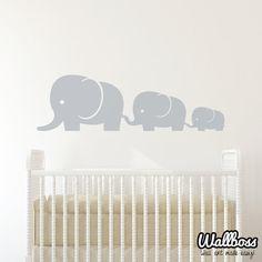 Éléphant bébé famille Wall Decal vinyle mur par Wallboss sur Etsy, £22.99