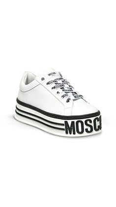 Moschino Platform Logo Sneakers | SHOPBOP Sporty Chic, Off Duty, Moschino, Black Friday, Bootie Boots, Vans, Platform, Booty, Logo