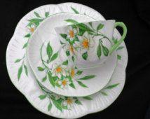 Shelley Dainty Tea cup and saucer Trio plate syringa