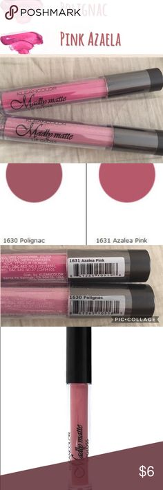 2 Madly Matte Amazing Lip Glosses Polignac and Pink Azalea. Two of the most popular colors by Kleancolor. Brand new never used. Still in wrapping. Price firm. Kleancolor Makeup Lip Balm & Gloss