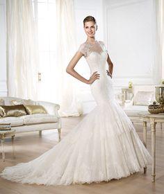 A Pronovias apresenta o vestido de noiva Onelia. Costura 2014.   Pronovias