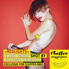 """Photographer Giacomo Rebecchi shot model and singer Sarah Moon in beautiful """"Redlights"""" mood. An exclusive set for the fourth issue of Fluffer Magazine"""