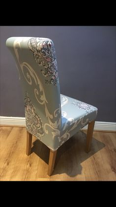 Grey with White/Taupe Floral Pattern (New) Grey Velvet Chair, Blush Pink, Lilac, Dining Chair Covers, Taupe, Medium, Floral, Pattern, Light Rose