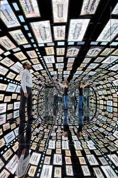 At the Samsung 837 opening in 1 New York in February, attendees walked through a mirror-filled tunnel displaying images from their Instagram accounts, which they synced up via Samsung Galaxy phones.
