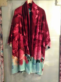 Silk velvet hand painted Rosario P. Kimono Top, Velvet, Hand Painted, Silk, Tops, Women, Fashion, Rosaries, Moda