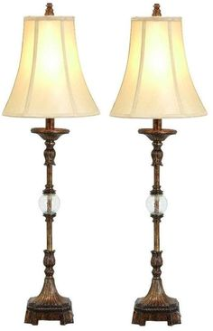 Lovely Aspire Home Accents 49961 Pax Buffet Lamp (Set Of Antique Brown / Tan Lamps  Lamp Sets Buffet Lamps