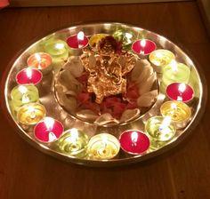 Dipawali's decoration Diwali Decorations, Punch Bowls, Oatmeal, Breakfast, Birthday, Food, Breakfast Cafe, Essen, Birthdays