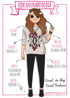 Illustration outfit of the day Karol Pinheiro